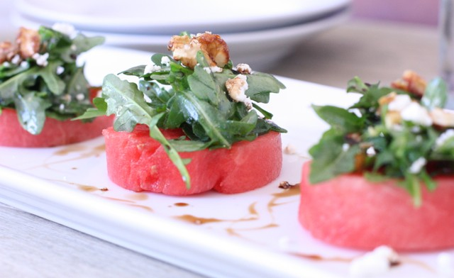 watermelon and arugula salad with walnuts • the viand
